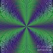Flight Of Fancy Fractal In Green And Purple Poster