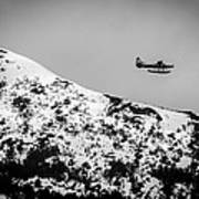 Float Plane Over The Mountain Poster