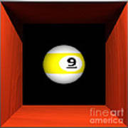 Floating 9-ball Poster