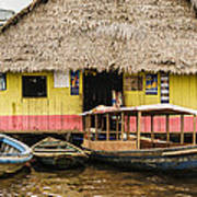 Floating Bar In Shanty Town Poster