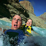Floating Down The Little Colorado River Poster