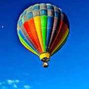 Floating Free In A Hot Air  Balloon Poster
