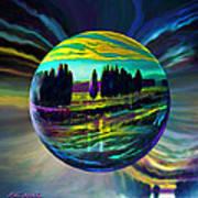 Floating Lavender Fields  Poster