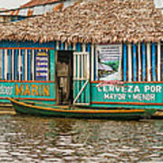 Floating Pub In Shanty Town Poster