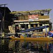 Floating Shop Along With Another Shop On Floats In The Dal Lake Poster