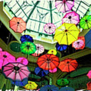 Floating Umbrellas In Las Vegas  Poster