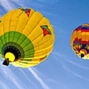 Floating Upward Hot Air Balloons Poster