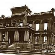 James Clair Flood Mansion Atop Nob Hill San Francisco Earthquake And Fire Of April 18 1906 Poster