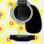 Floral Abstract Guitar 22 Poster