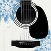 Floral Abstract Guitar 25 Poster