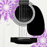 Floral Abstract Guitar 26 Poster