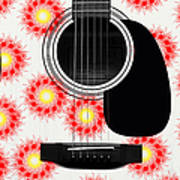 Floral Abstract Guitar 8 Poster