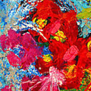 Floral Abstract Part 3 Poster