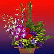 Floral Arrangement Poster by Chuck Staley