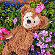 Floral Bear Poster