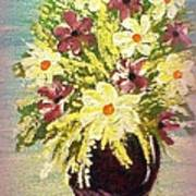 Floral Delight Acrylic Painting Poster