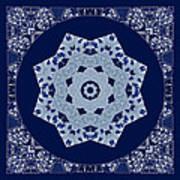 Floral Flow Blues Poster