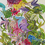 Floral Frenzy Poster