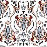 Floral Pattern II Poster