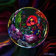 Floral Still Life Orb Poster