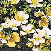 Floral Yellow Poster