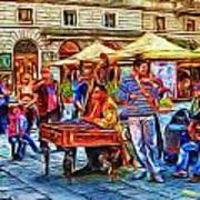 Florence Street Musicians Poster