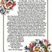 Florentine Desiderata Poster Poster