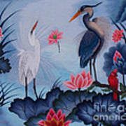 Florida Beauty Hand Embroidery Poster by To-Tam Gerwe