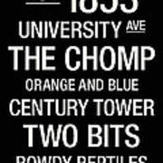 Florida College Town Wall Art Poster