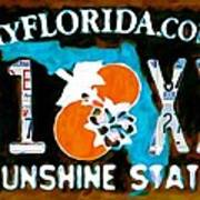 Florida License Plate Poster