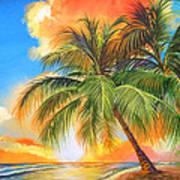 Florida Palm Sunset Poster
