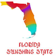 Florida State Map Collection 2 Poster