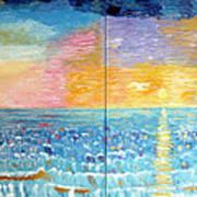 Florida Sunset Poster by Vicky Tarcau