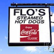Flo's Steamed Hot Dogs Poster