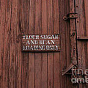 Flour Sugar And Beans Poster