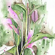 Flower Anthurium 03 Elena Yakubovich Poster by Elena Yakubovich