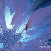 Flower Blue II Poster