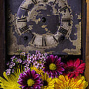 Flower Clock Poster