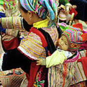 Flower Hmong Baby 03 Poster