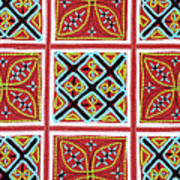 Flower Hmong Embroidery 01 Poster