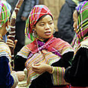 Flower Hmong Women Poster by Rick Piper Photography