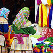 Flower Hmong Wool Stall Poster