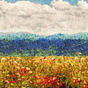 Flower - Landscape - Fragrant Valley Poster by Mike Savad