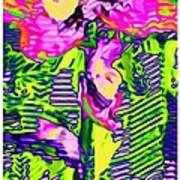 Flower Line Sketch Poster
