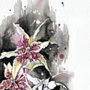 Flower Orchid 12 Elena Yakubovich Poster by Elena Yakubovich