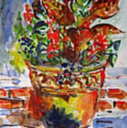 Flower Pot Poster by Vladimir Kezerashvili