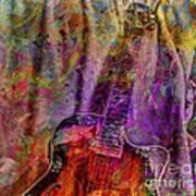 Flower Power Digital Guitar Art By Steven Langston Poster