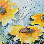Flower Power- Floral Painting Poster