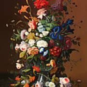 Flower Still Life With A Bird's Nest Poster