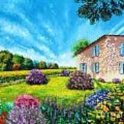 Flowered Garden Poster